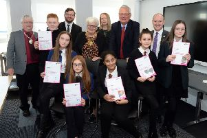 The winners of this year's North Lanarkshire Council Christmas card competition