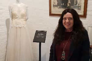 Catherine Sutherland donated her wedding dress to the Famous Blacksmiths Shop Museum at Gretna Green