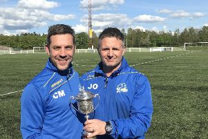 Cumbernauld Colts co-managers Craig McKinlay (left) and James Orr.