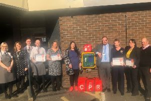 The public access defibrillator is situated outside the Coachman Hotel in Kilsyth