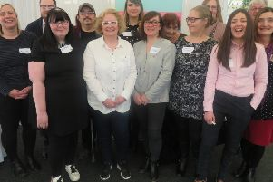 Some of the participants and organisers at the Mental Health Recovery Lanarkshire event which took place at the Alona Hotel