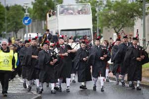 Pipers lead the parade at last year's gala day