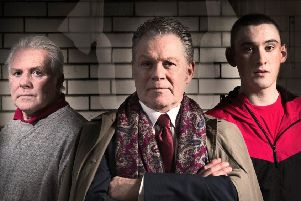 From left: John McCardle, Brendan Charleson and Harry MacMullen star in the Red Lion.