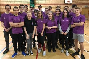 A selection of the North Lanarkshire pupils who took part in the Leadership Academy for Sport programme