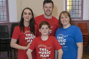 Claire and Greg Robertson (who is choreographing the show) as well as mother and son Catherine and Matthew McKenzie, all from Cumbernauld.