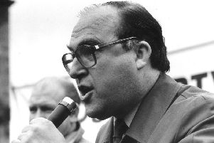 John Smith MP speaking at a STUC rally in 1986
