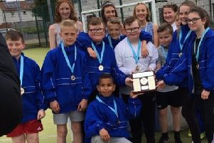 Kilsyth Primary won the rugby tournament