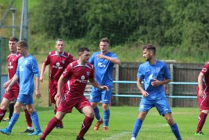 Cumbernauld United saw off the challenge of Blantyre Vics at Guy's Meadow (pic: Blake Welsh)