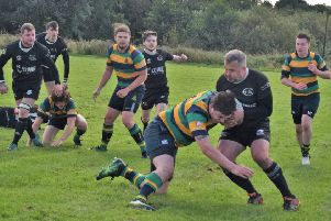 Action from Cumbernauld's win over Hyndland (pic: Charlie Kearton)
