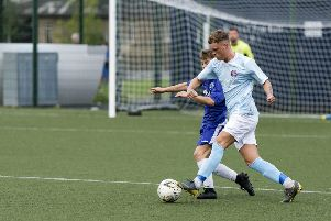 Top scorer Scott Thomson was on target in a remarkable win for Cumbernauld United (pic: David Rankin)