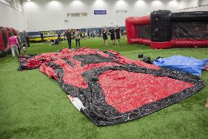 Giant inflatables like these will be blown up to provide hours of fun
