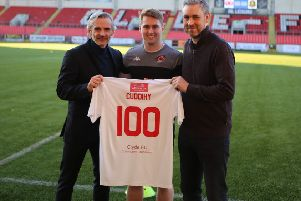 Clyde midfielder Barry Cuddihy makes 100 appearances (picture: Craig Black)