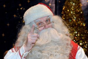 Santa will stop in Auchinstarry on Saturday