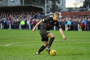 Tom Lang made his Clyde return in the Scottish Cup win at Bonnyrigg (pic: Craig Black Photography)