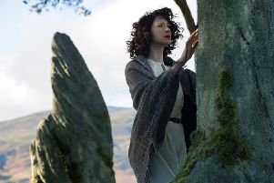 Caitriona Balfe as Claire Randall in a scene from Outlander. Picture: AP/Sony Pictures
