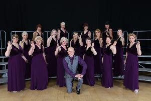 Albacappella performing at the national LAdies' Association of British Barbershop Singers in November 2014