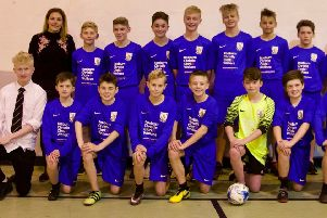 New kit for Banchory Academy footballers