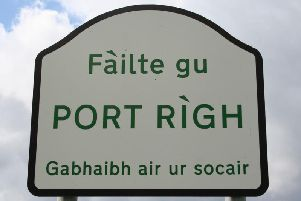 A Scots Gaelic sign on the Isle of Skye