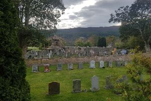 Tullich Kirk, east of Ballater,  dates to the 15th century