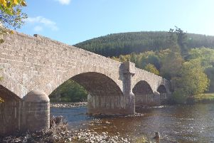 The refurbished Dee Bridge at Ballater