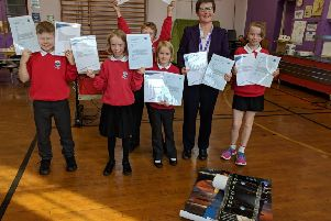 Tarland kids are delighted with the NASA response