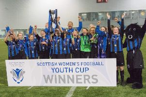 Demi and Becky at the double as Donside Girls win Scottish Cup