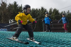 Youngsters get to grips with Alford Ski Slope, which is to be resurfaced as part of the refurbishment plan