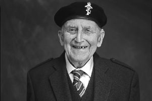 John McOwan served in the Royal Electrical and Mechanical engineers attached to the 8th Army on D-Day. He is today sailing back to Normandy with 300 fellow veterans,, 75 years to the day after their first journey to those distant shores. (Pic Wattie Cheung)