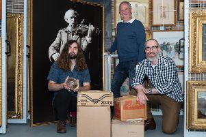 A total of 365 tape recordings from the John Junner Collection are presented to'National Library of Scotland staff at Aberdeenshire Museums HQ in Mintlaw to be transported to the Librarys Glasgow hub at Kelvin Hall for up to a year