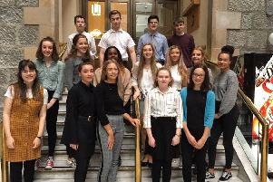 Pupils from Alford Academy who were among the schools taking part in the annual Aberdeenshire 'mock trials' competition.