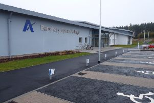 There is no defib located at the new Banchory Sports Village.