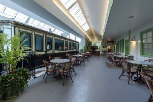 The restaurant area complete with refurbished carriage. Picture: Aberdeenshire Council