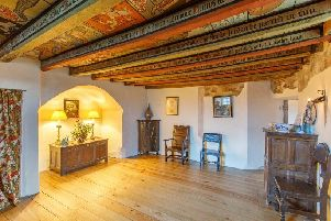 The book takes the reader on a tour of the castle's rooms. Picture: Go View Media