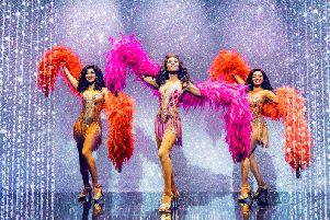 Kimmy Edwards, Brennyn Lark Asmeret and Ghebremichael in Dreamgirls in the West End.