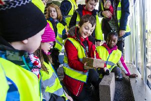 A group of pupils from Tough Primary have visited Silver Birches, a new community currently being developed by Stewart Milne Homes