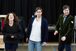 Roisín Walsh, Elgan Llyr Thomas and Adam Gilbert in rehearsals for Opera Highlights 2017.