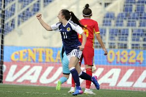 Lisa Evans gave Scotland the lead early on. Picture Michael Gillen.