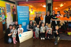 The playgroup received a �6801 cheque from the Co-op in November