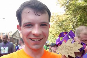 Andrew Bowie is preparing to take part in the London marathon