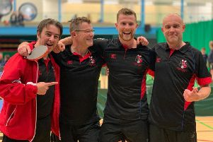 Alford Bulls table tennis team won the Bon Accord Trophy at ASV in late April featuring coach Martin Richens, John Allan, Jake Allan (son) & Alek Roginski.