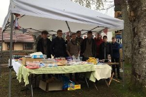 There were also stalls outside the Scout Hall
