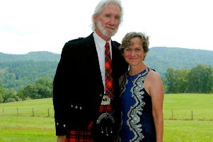 Duncan Mackintosh and wife Annie will visit the games for the first time on Saturday