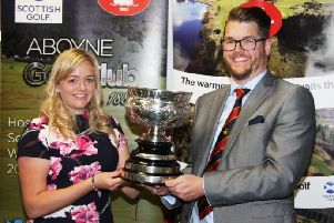 Aboyne Golf Club award honorary membership to Kimberley Beveridge