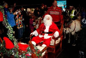 Santa and reindeer were a big attraction. Picture: Mike Gill