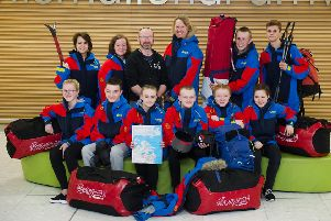 Ten Scottish pupils prepare to fly to Greenland to undertake a 10-day 100 mile Arctic expedition with the charity, The Polar Academy. Picture: John Devlin