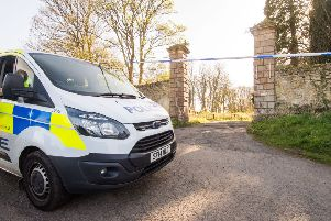 Police at the crime scene earlier this week. Picture: Ian Georgeson