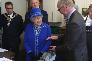 Queen Elizabeth II stunned diners at the Sheep Heid Inn. Picture:  Andrew Milligan/PA