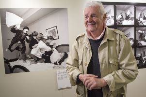 Harry Benson's pictures are on show at the Scottish Parliament  in a Festival retrospective. Picture: Ian Rutherford