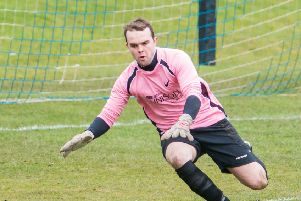 Whitehill keeper Bryan Young was kept busy