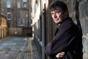 Author Ian Rankin outside the Oxford Bar. Picture:  Ian Georgeson